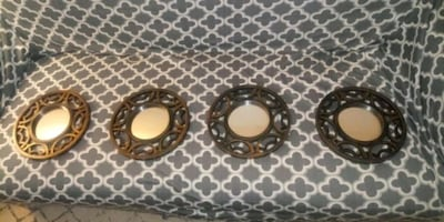 4 Mirrors for Wall Decor.