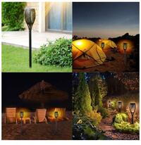 2 Pack mini small special design solar torch flame lights outdoor