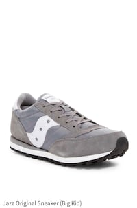 unpaired gray and white low-top sneaker New York, 10032