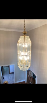 Chandelier - Gold and Glass