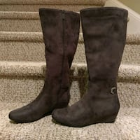New 9M Impo Grey Suede Boot,  women's Woodbridge, 22193