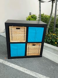 Ikea Black-Brown Storage With Baskets Langley, V3A 0C9
