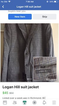 black and gray plaid suit jacket Richmond, V6Y 1A2