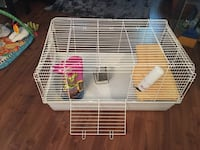 White and red pet cage Sainte-Madeleine, J0H 1S0