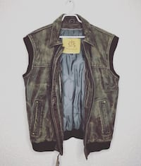 STS RANCHWEAR Tell Texas LEATHER Sleeveless Jacket Vancouver, V5L 3C9