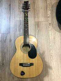 BEAVER CREEK GUITAR WITH CASE,STRAP AND CAPO