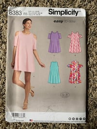 Simplicity 8383 Easy Sew Dress Pattern Forest Grove, 97116