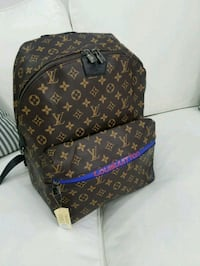 brown Louis Vuitton leather backpack Davie, 33314