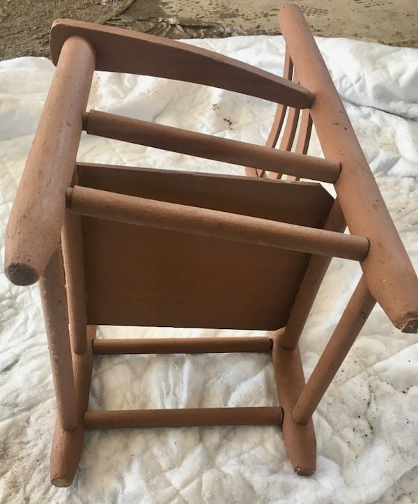 Straight Back Wooden Chair