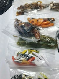 $2 bags of mixed rubber worms and jigs Brockville, K6V 7A6