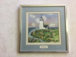 Water Color Painting of light house by Hilda.