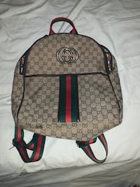 brown and green Gucci backpack Charlotte, 28210