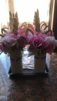 6 Unicorn  Center Pieces Montebello