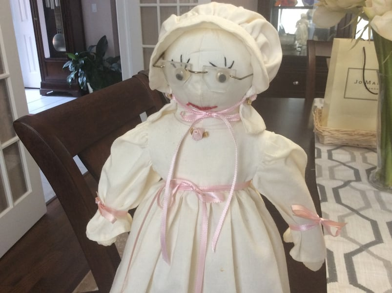 Cloth Doll with Stand 463be5bc-41bf-4608-977c-9d985dee75e7
