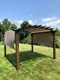 Allen + Roth Pergola with Canopy  Franklin, 37064