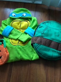 Turtle Ninja Halloween Costume 4-5 T