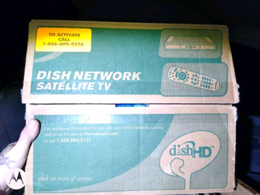 Photo Dish Network Satellite TV (its a pre paid pay as you go box too)