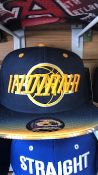 blue and yellow New York Knicks fitted cap Fort Wayne, 46806