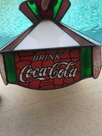 VINTAGE STAIN GLASS COCA-COLA SWAG HANGING LAMP Cape Coral, 33914
