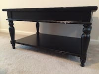 Dark Wood Veneer Solid Coffee Table  WILMINGTON