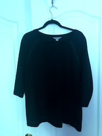 Black 3/4 Length Sleeve Shirt Vaughan
