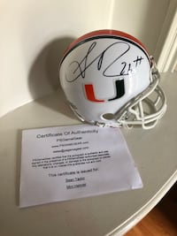 Signed Sean Taylor UM Mini Helmet w/ COA Fort Belvoir, 22060