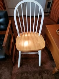 White Brown Wood Chair