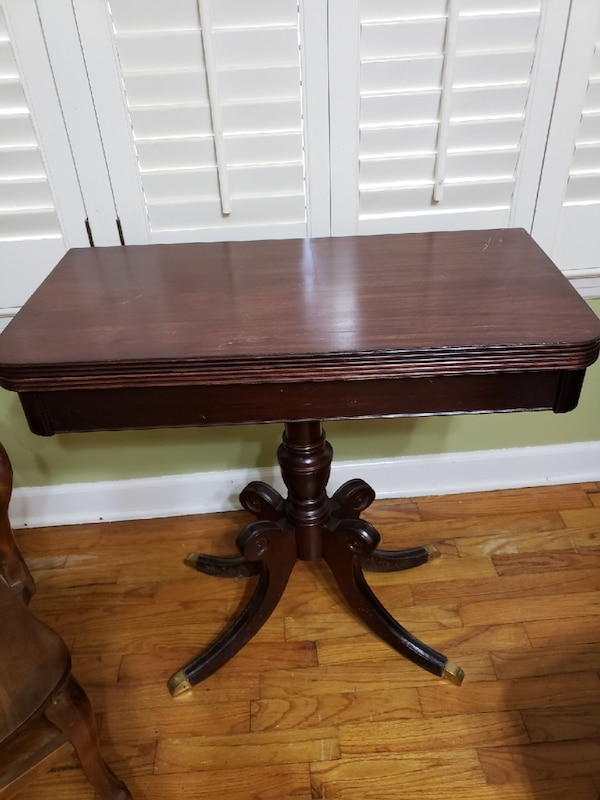 - Used Antique Folding Card Table For Sale In Cartersville - Letgo