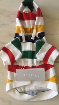 White, red, and green stripe polo shirt Торонто, M6M 2E6