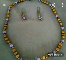 Necklace , earring set (hand made)