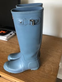 Hunter boots - baby blue- women's size 7 Surrey, V3V 6Y5