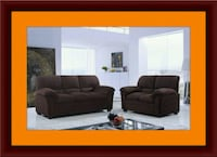 Chocolate microfiber sofa and love seat free deliv Gaithersburg