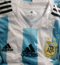 white and blue Adidas jersey shirt Lewisville, 75067