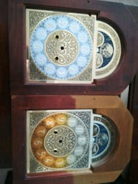 two brown and blue ceramic decorative plates Welland, L3B 5N5
