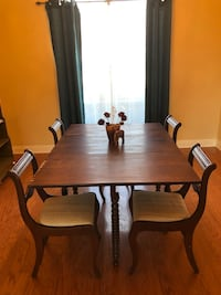 Veneer dining table with drop down leaves  Broussard, 70508