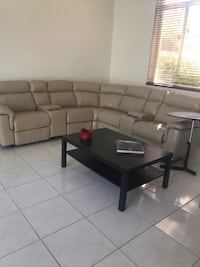 Beige Sofa with 3 Recliners Weston, 33332
