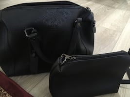 Black leather 2-way bag it's brand new