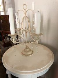 white metal candle holder Tucson
