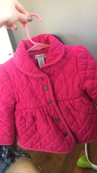 girl's pink button-up jacket