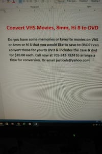 Convert your VHS Movies, 8mm Hi 8, to DVD