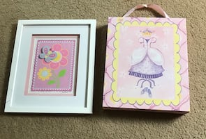 Girls' Wall Art, Set of 2