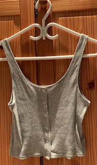 h&m basic grey tank