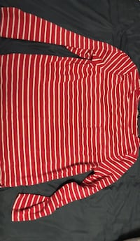 Red and white stripe long sleeve shirt Lincoln, L0R
