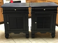 two black wooden 2-drawer nightstands Marietta, 73448