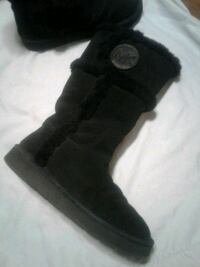 Michael Kors Shearling Black Winter Boots NEW London
