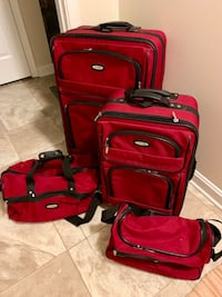 red and black luggage bag Frederick, 21703