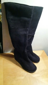 Black Knee High Wedge Boots. San Jose, 95117