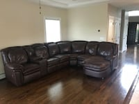 Brown leather sectional  New York, 10309