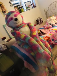 Pink, green, and blue animal plush toy Los Angeles, 90063