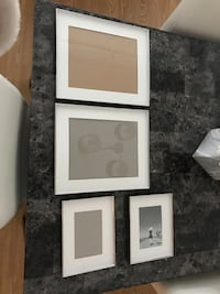 three white wooden photo frames Laval, H7G 0A3
